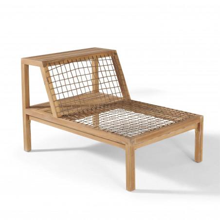 Structure fauteuil salon de jardin bois acacia