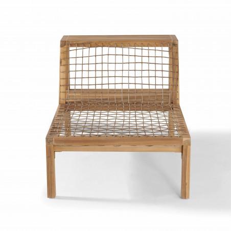 Structure fauteuil bois acacia salon seychelles