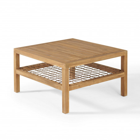 Table basse bois acacia salon Seychelles