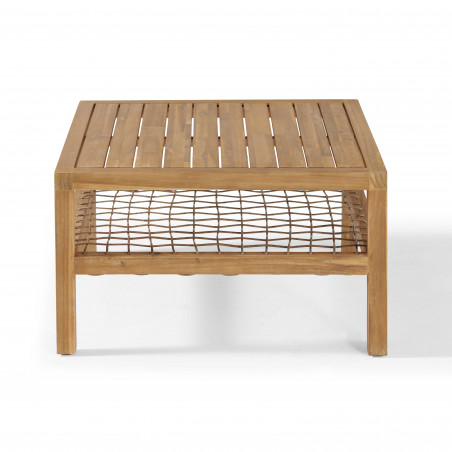 Table basse en bois d'acacia