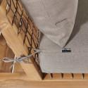 Zoom structure et coussins fauteuil d'angle seychelles