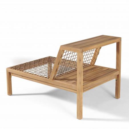 Structure fauteuil salon de jardin acacia avec étagère
