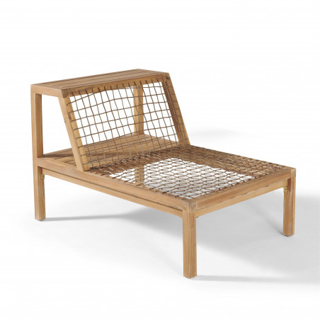 Structure fauteuil modulable salon de jardin 6 places bois acacia