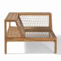 Structure fauteuil d'angle en acacia Seychelles