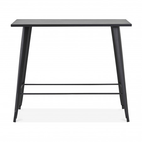 Table haute noire en métal jardin