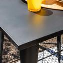 Focus table bar en métal