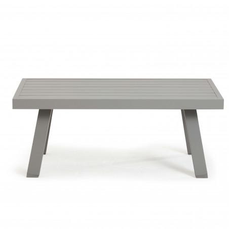 Table basse taupe en aluminium pour le jardin