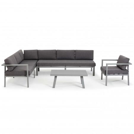 Table basse extérieure grise