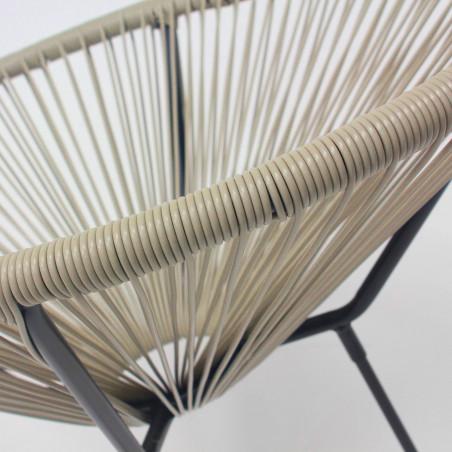 Zoom fauteuil de jardin taupe
