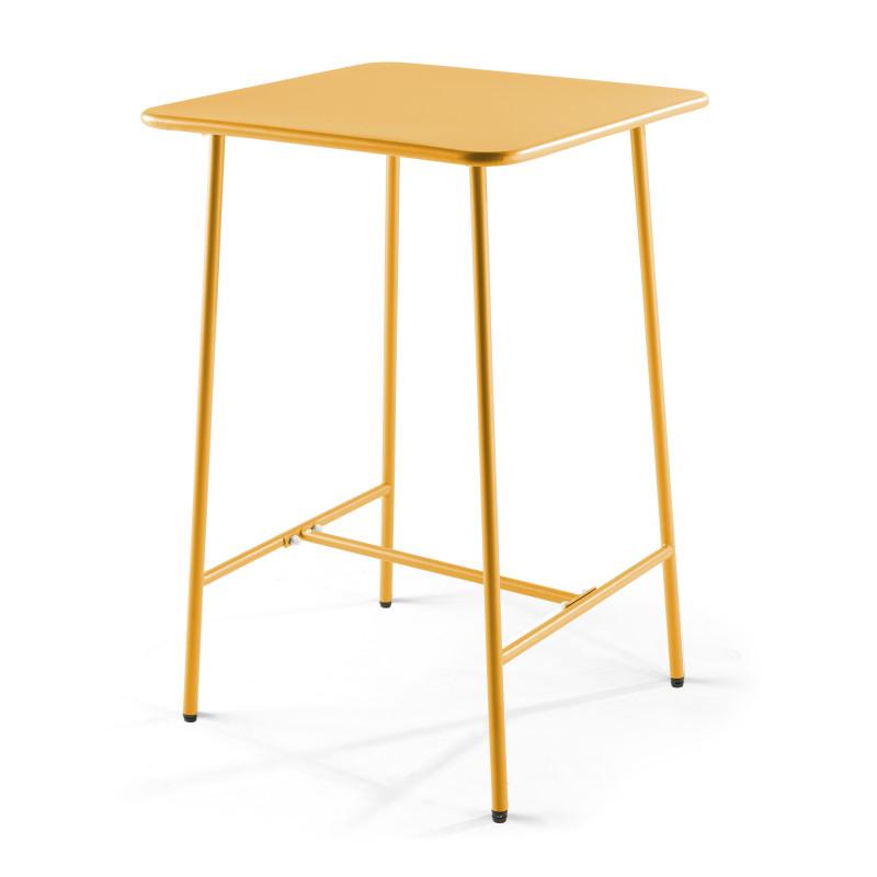 Table de bar en métal jaune