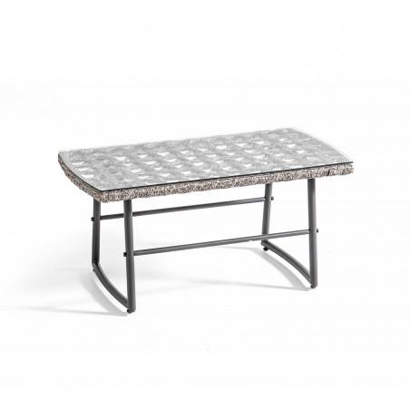 Table basse métal et résine salon de jardin LIMA