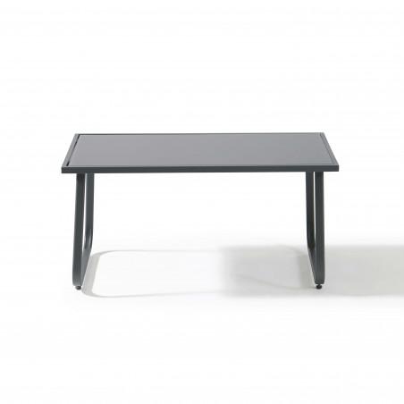 Table basse salon de jardin bas noir