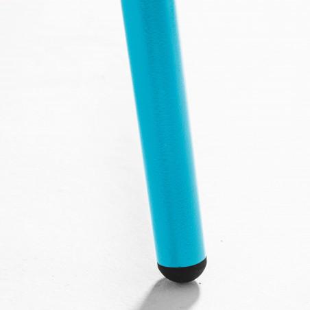 Focus pied de table basse en métal bleue