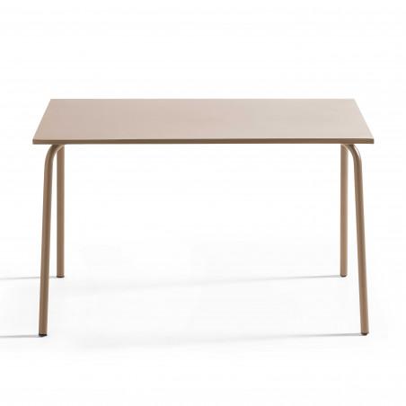 Table TAUPE en métal 4 personnes