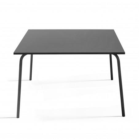 table en métal carrée GRISE