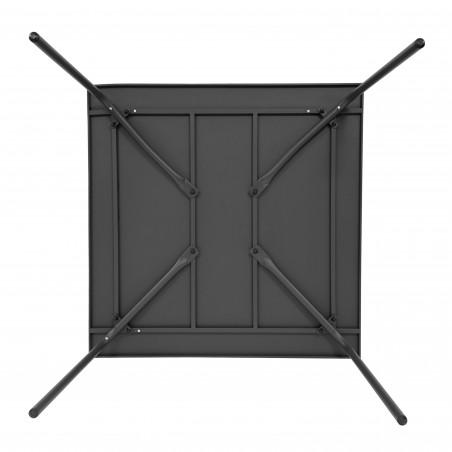 Table en métal carrée GRIS