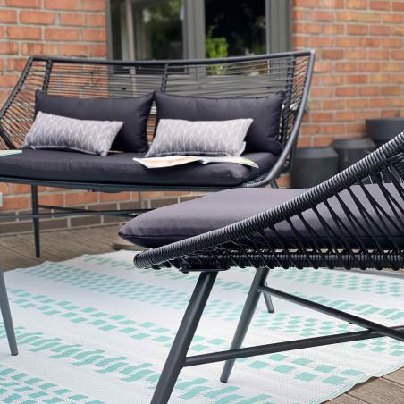 Canapé de jardin 2 places
