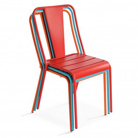 Chaise bistrot en métal empilable