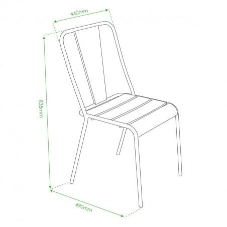 Chaise bistrot rouge en métal