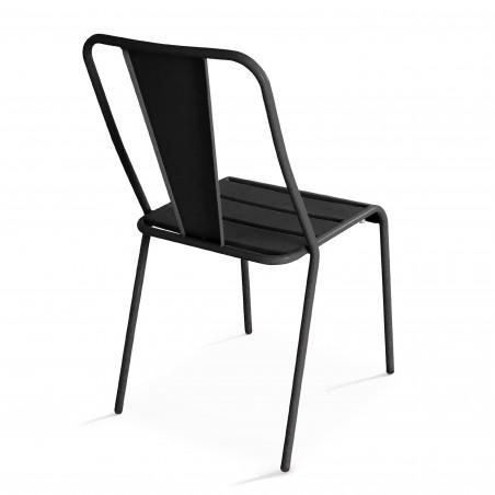 Chaise terrasse grise en métal DIEPPE