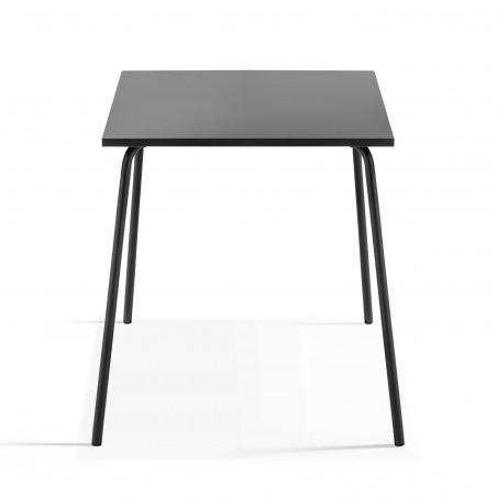 Table bistro carrée grise en métal