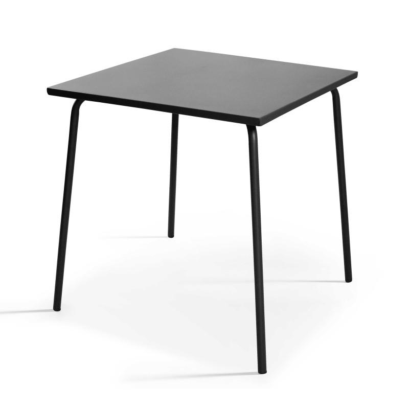 Table bistro carrée en métal grise