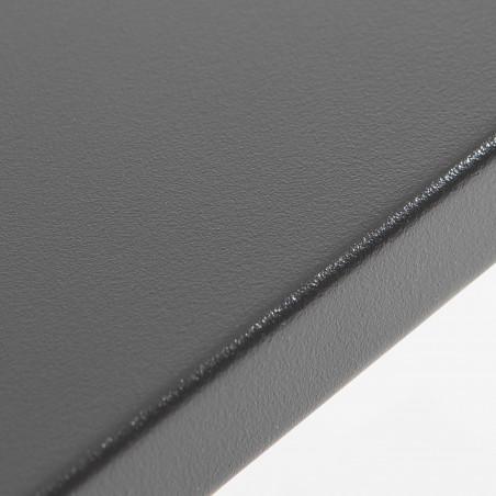 table en métal grise 4 places bistro