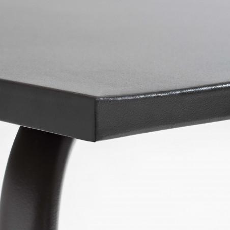 Table CHR 4 personnes en métal gris