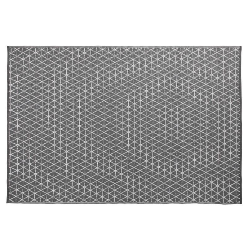 Grand tapis intérieur et extérieur GRIS motif