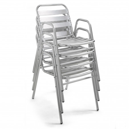 Chaise CHR avec accoudoirs empilables