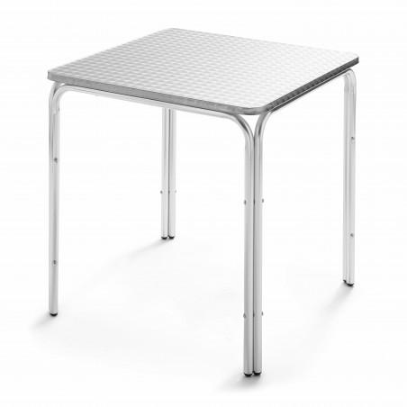 Table carrée café restaurant en aluminium