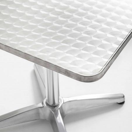 Focus table carrée bistro en aluminium