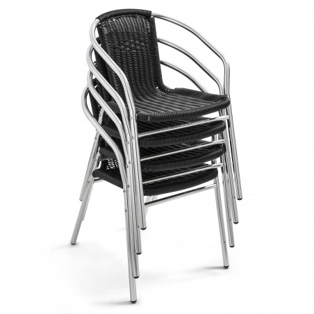 Chaise empilable CHR avec accoudoirs
