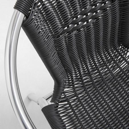 Focus chaise CHR en aluminium et résine