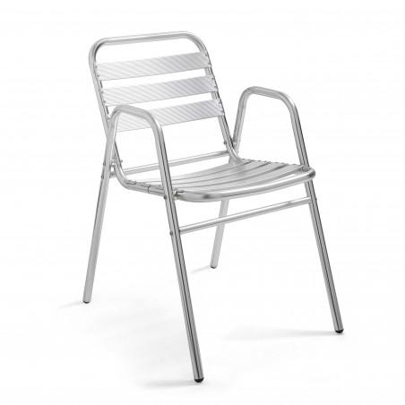 Chaise terrasse café aluminium