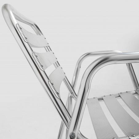 Focus chaise empilable bistro CHR en aluminium
