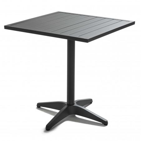 Table terrasse brasserie GRISE en aluminium