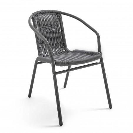 Chaise terrasse café brasserie GRISE aluminium