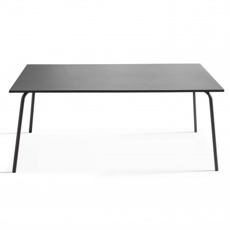 Table Terrasse gris anthracite Metal