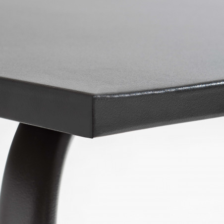 Zoom Table Terrasse grise anthracite Metal