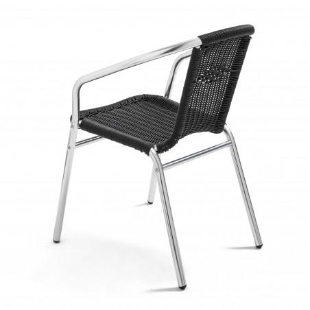 Chaise de terrasse noire indoor et outdoor