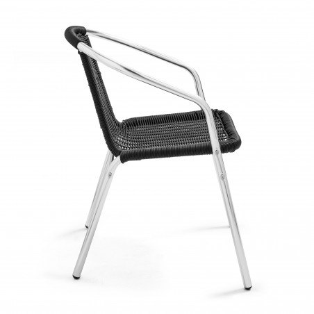 Chaise de terrasse bistro alu et résine
