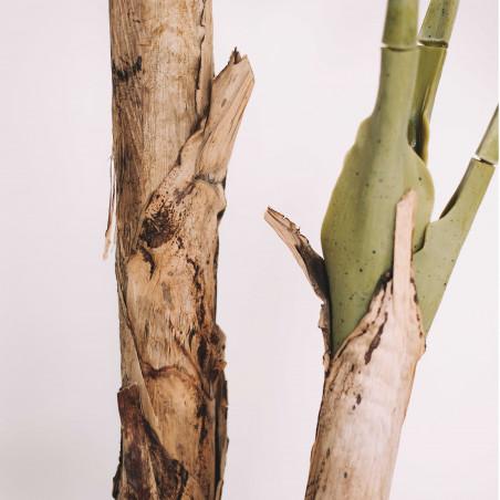 Focus tronc plante artificielle bananier 180cm