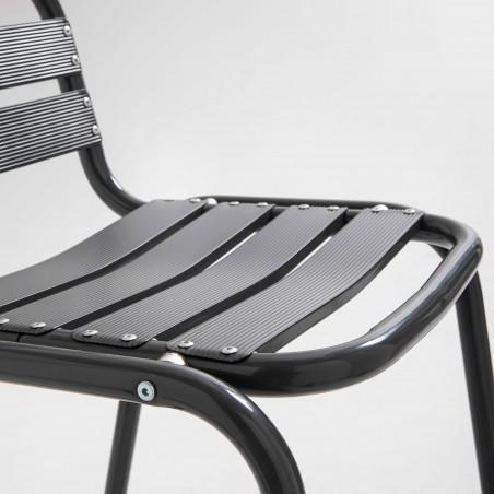 Focus tabouret aluminium gris terrasse CHR