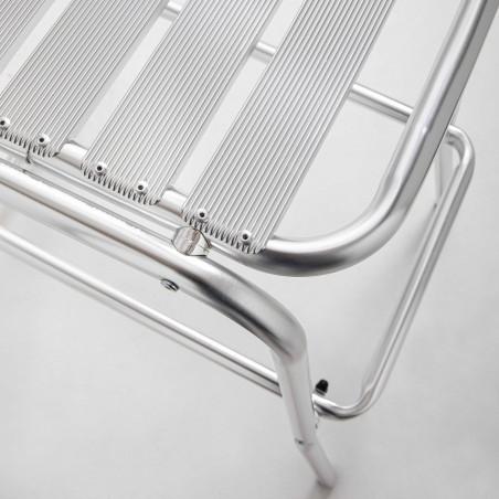Focus tabouret terrasse brasserie en aluminium