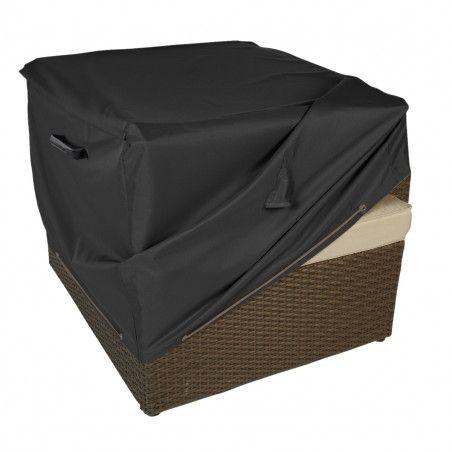 Housse de protection noire premium fauteuil salon de jardin Boutique jardin