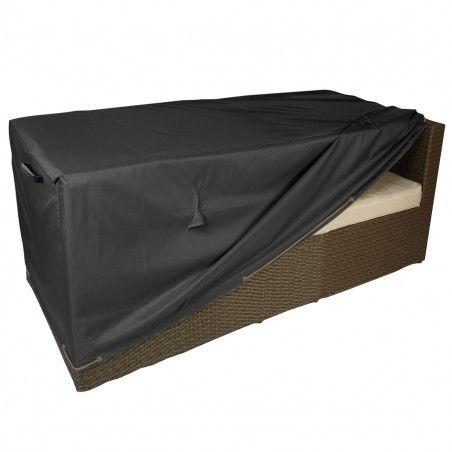 Housse noire fauteuil premium 2 places Boutique jardin