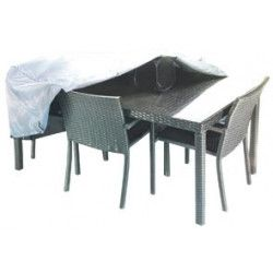 achat housse table de jardin rectangulaire pas cher oviala. Black Bedroom Furniture Sets. Home Design Ideas
