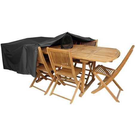 Housse de protection table de jardin 300 x 130 cm