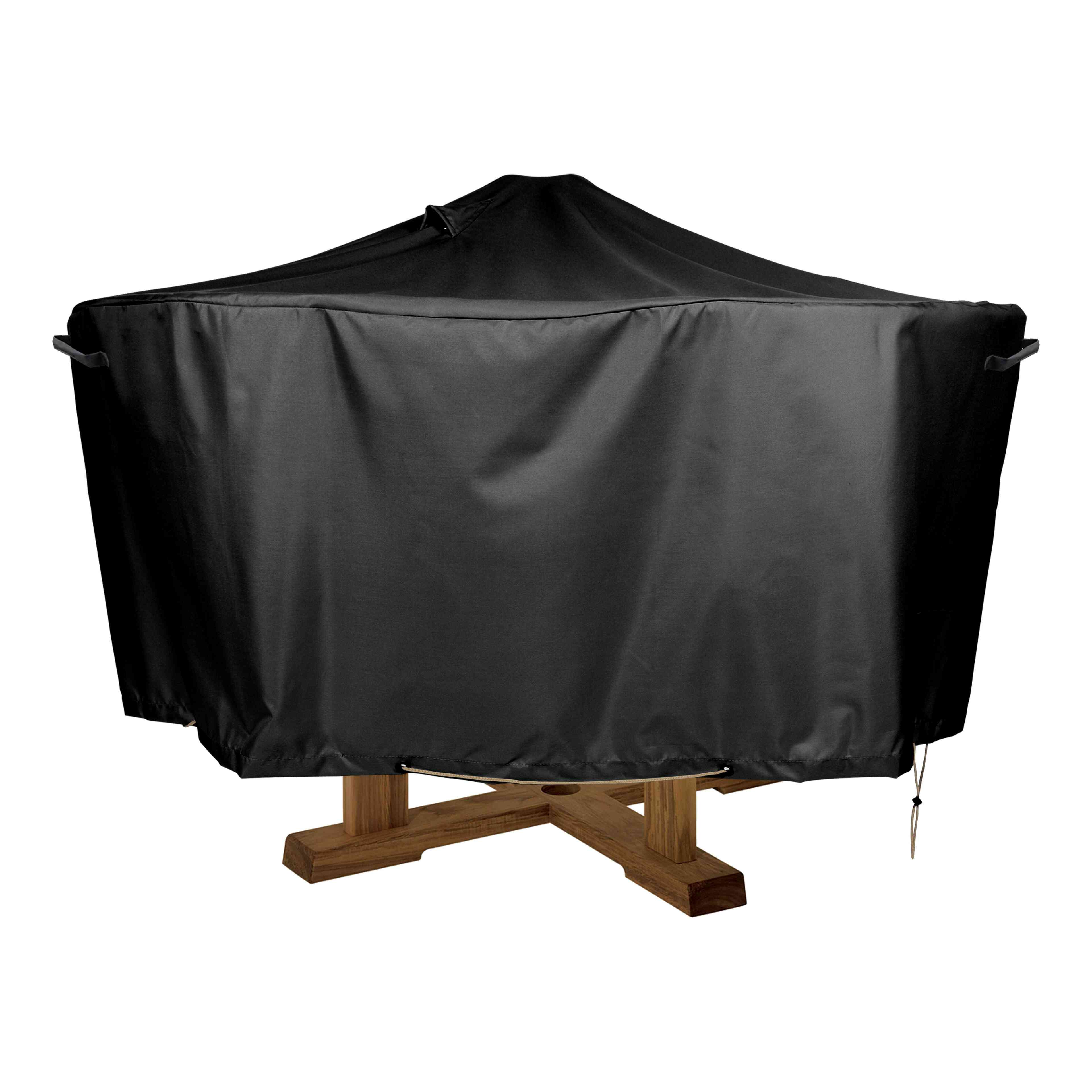 housse de protection table ronde d 39 ext rieur oviala. Black Bedroom Furniture Sets. Home Design Ideas